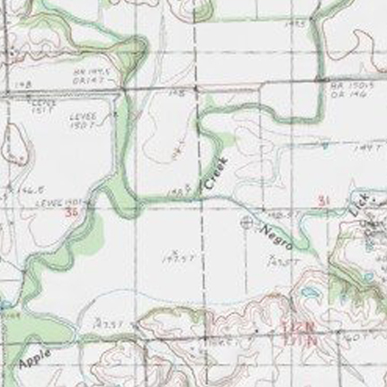 Negro Lick Map