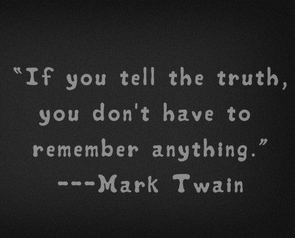 Twain If You Tell the Truth