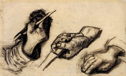 Three Hands Two Knives Van Gogh